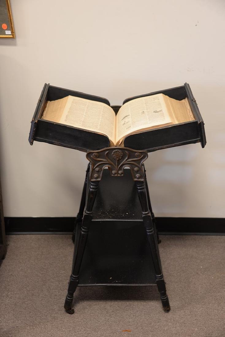 Victorian ebonized dictionary stand. ht. 36 in. - 2