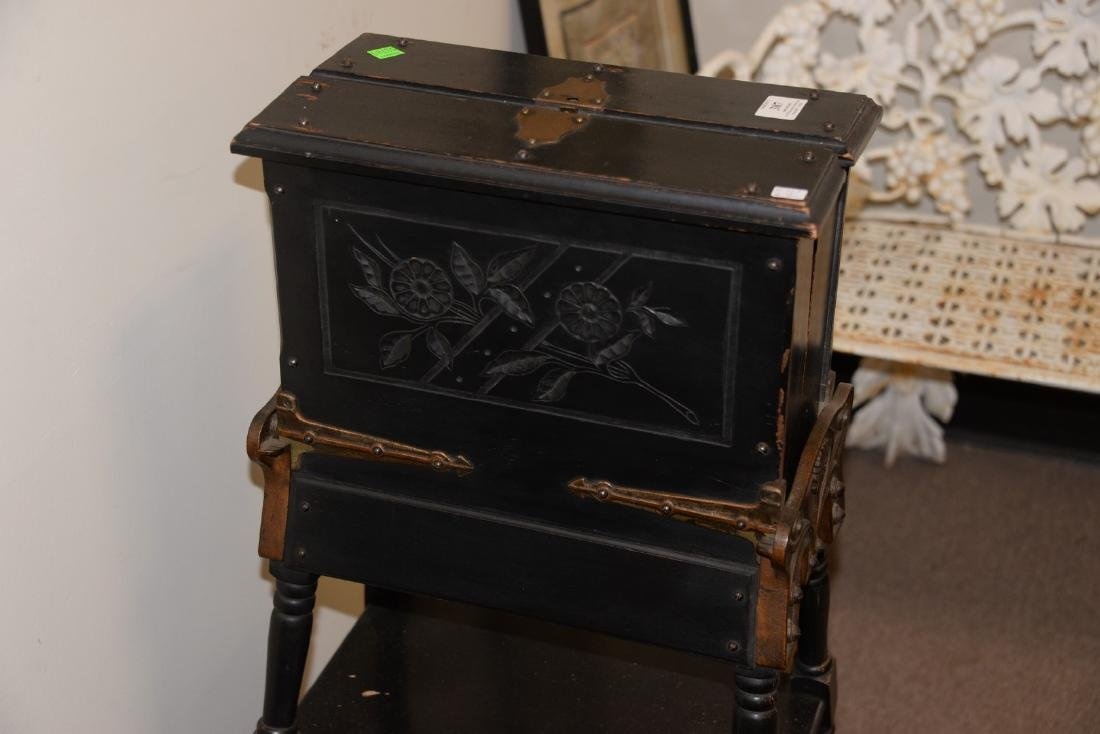 Victorian ebonized dictionary stand. ht. 36 in. - 4