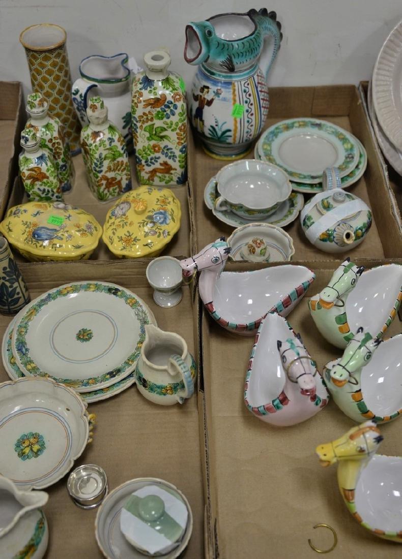 Four tray lots of Italian Majolica to include Deruta