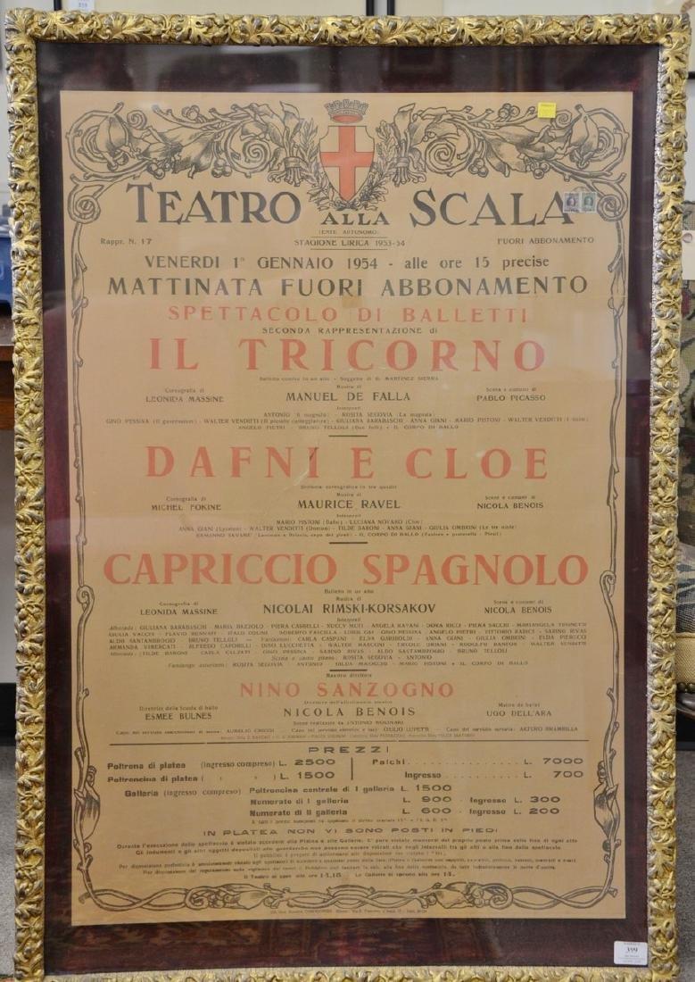 Lithograph poster, Teatro Alla Scala Stagione Lirica