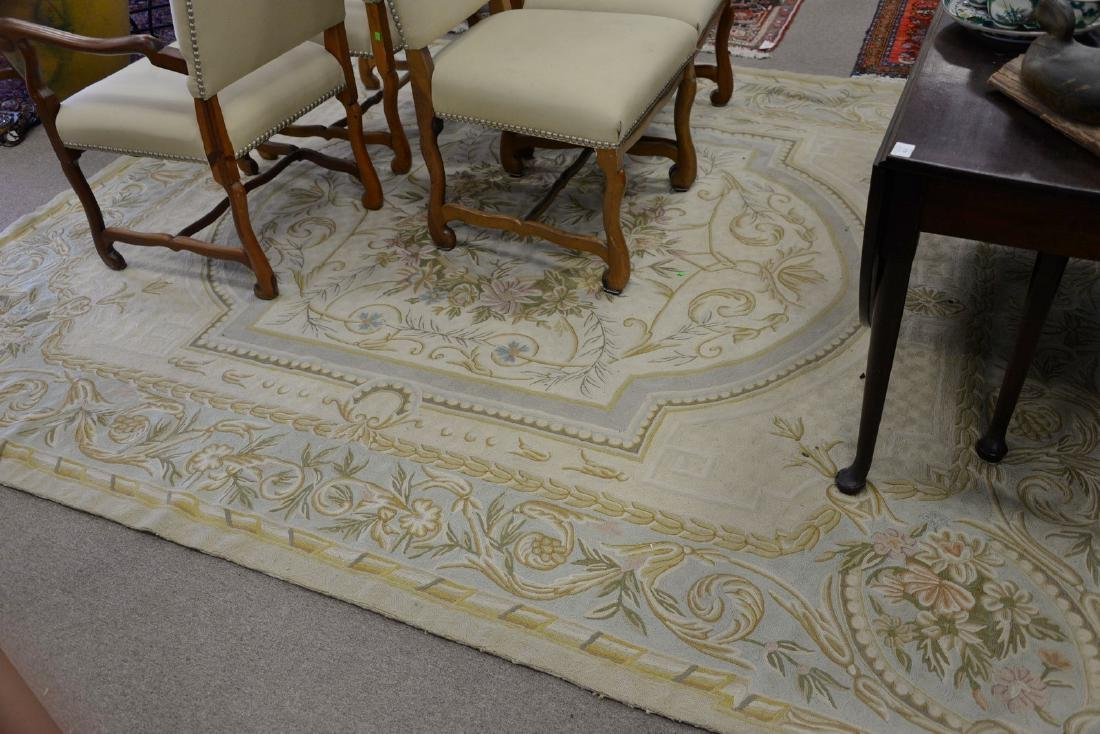 Woven area rug (some end frays). 8' x 10'
