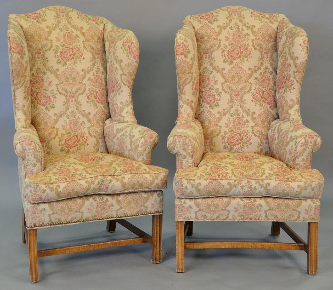 Pair of custom made tiger maple Chippendale style