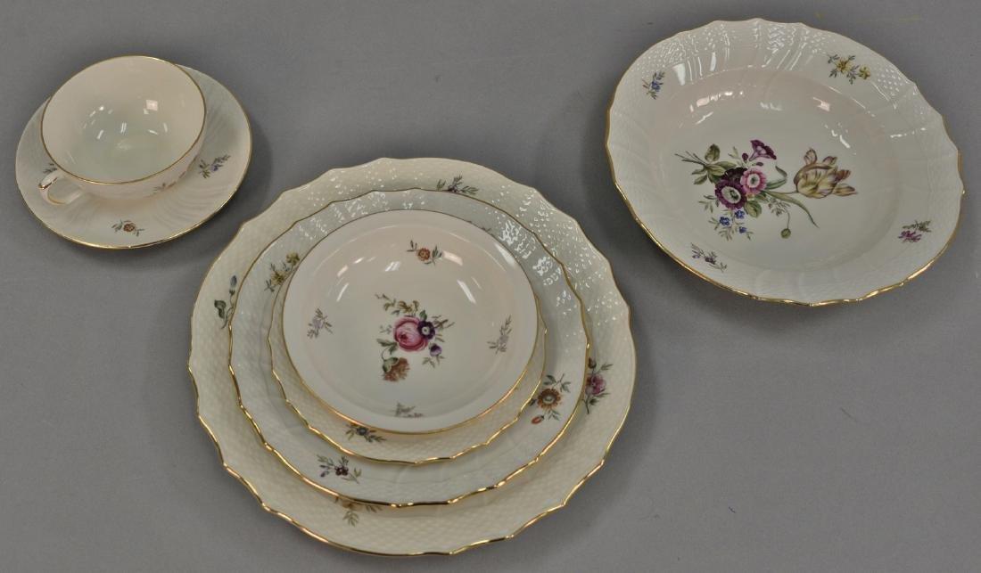 Royal Copenhagen set of dinnerware, setting for