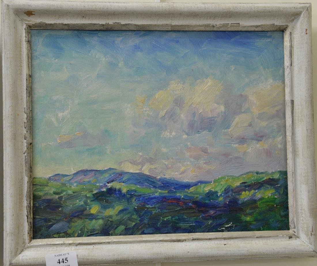 Two oil on board paintings by Sidney Marsh Chase