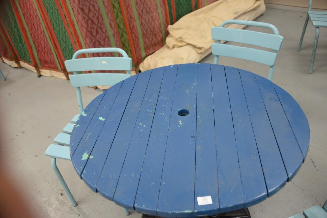 Five piece outdoor set to include a round metal table - 2