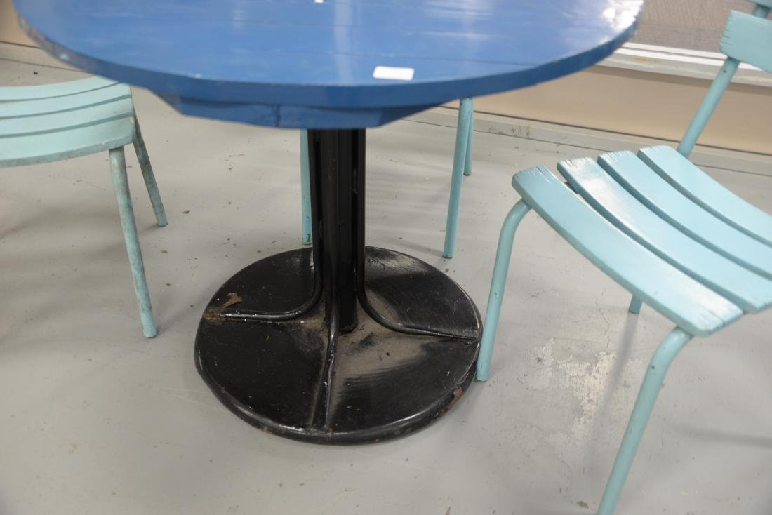 Four piece outdoor set to include a round metal table - 2