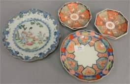 Group of Chinese export plates and dishes to include a