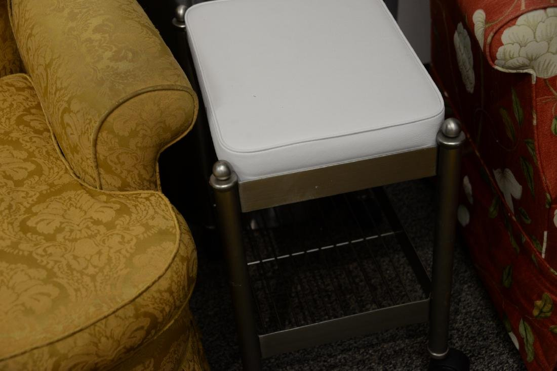 Three piece lot to include modern chrome floor lamp, - 3