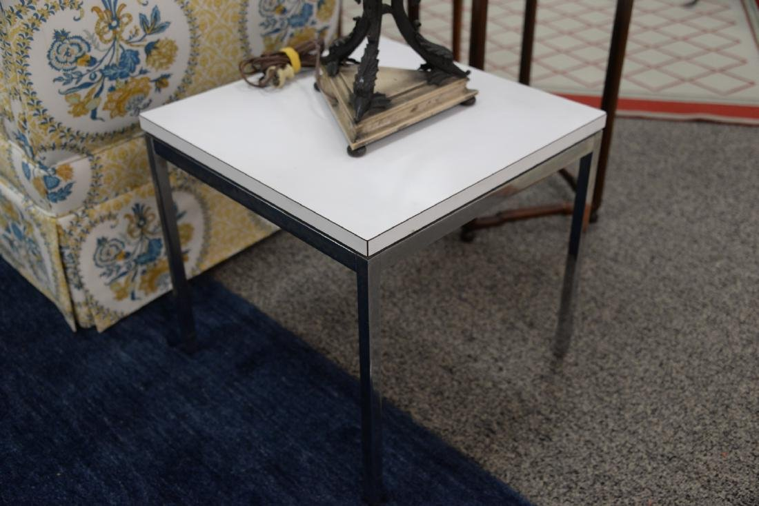 Four piece lot to include a pair of Knoll side tables - 2