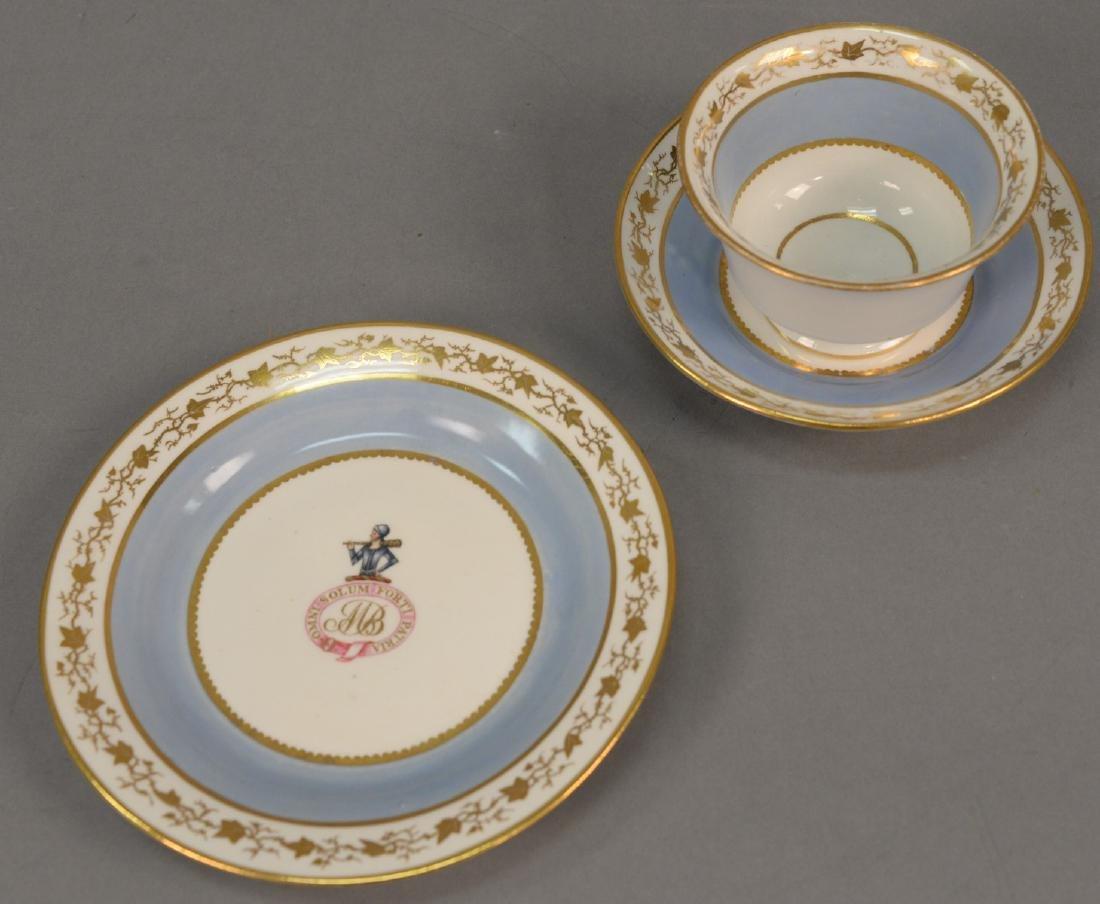 Thirty-six piece English dessert set with twelve cups,