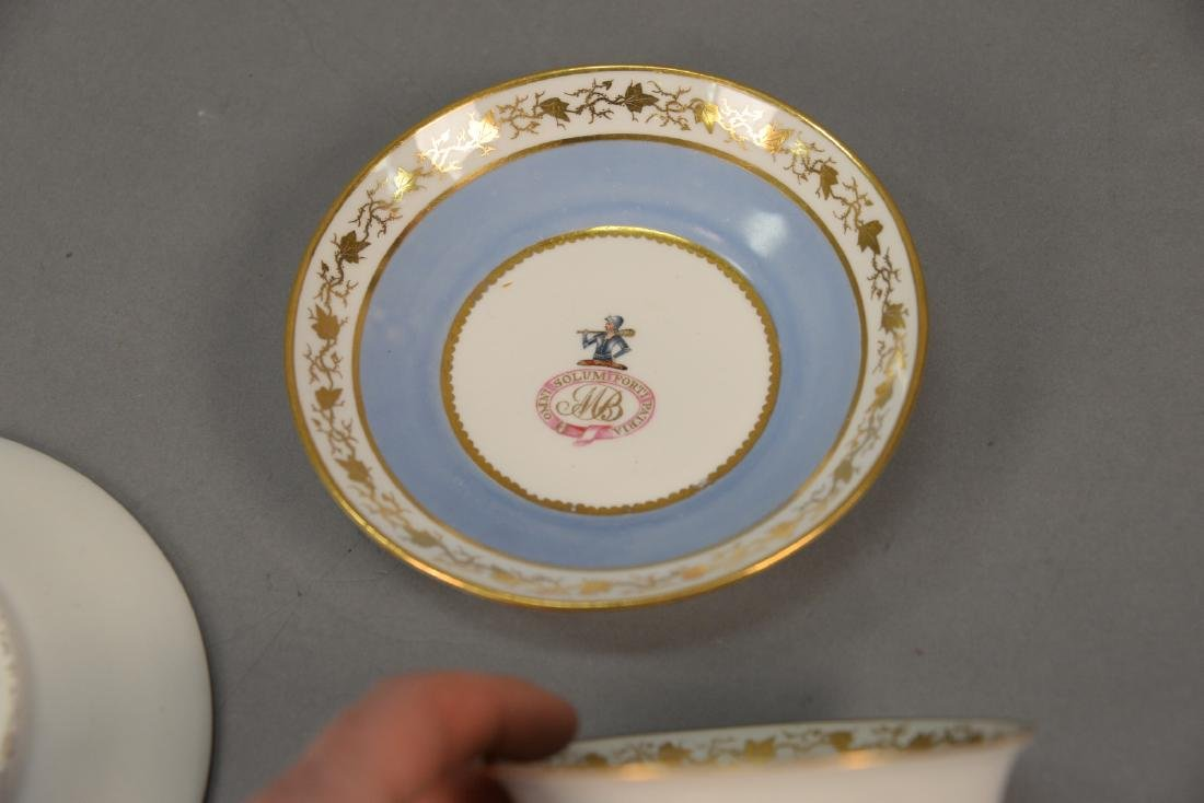 Thirty-six piece English dessert set with twelve cups, - 5