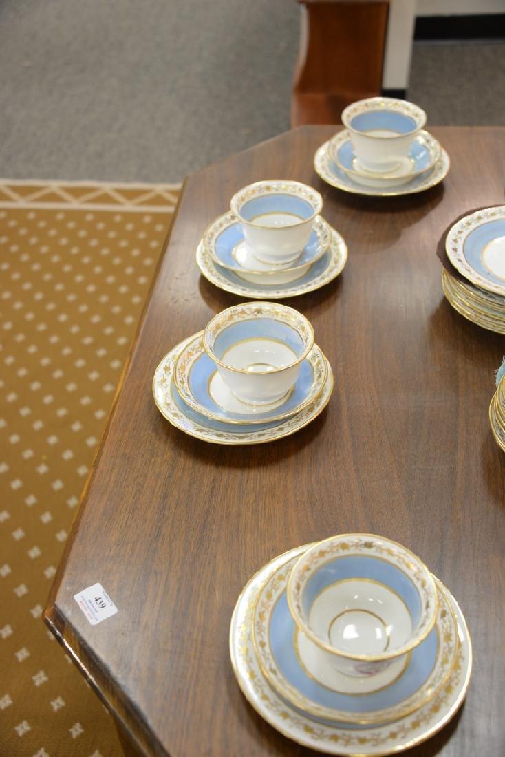 Thirty-six piece English dessert set with twelve cups, - 7