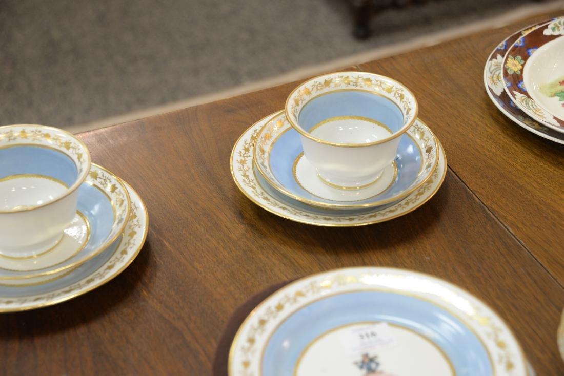 Thirty-six piece English dessert set with twelve cups, - 8