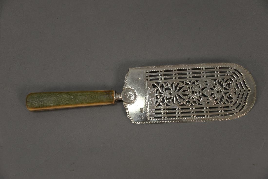 William Plummer George III silver pie server with - 2