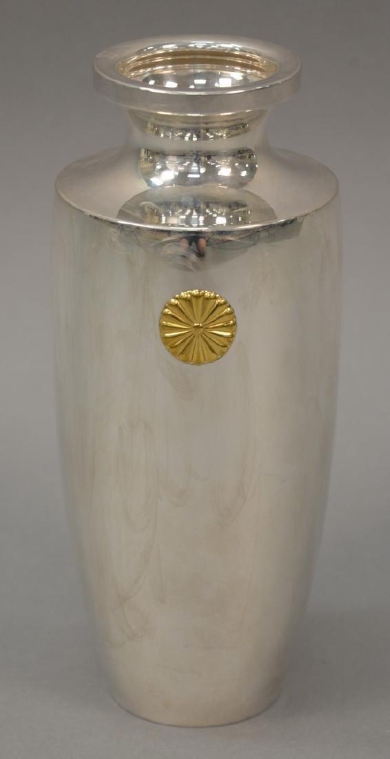 Japanese silver presentation urn given to Rockefeller