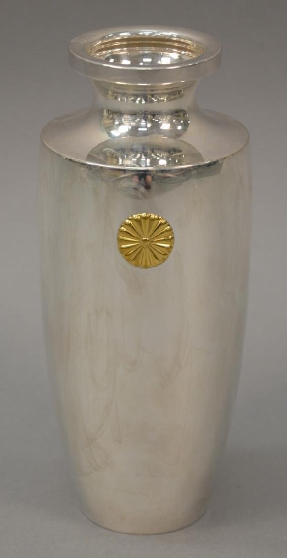 Japanese silver presentation urn given to Rockefeller