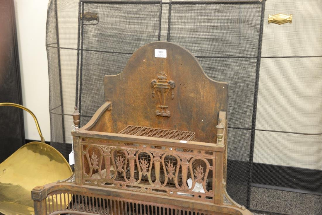 Assorted lot of fireplace items to include an iron fire - 4