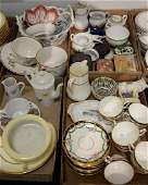 Four tray lots of porcelain to include set of