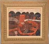 Gustavo Foppiani (1925-1986), oil on panel, On This