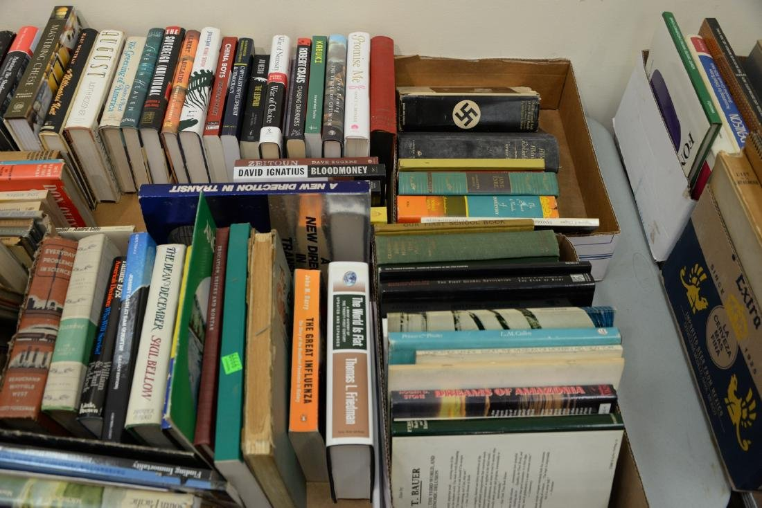 Table lot of books, on top and below table to include a - 4