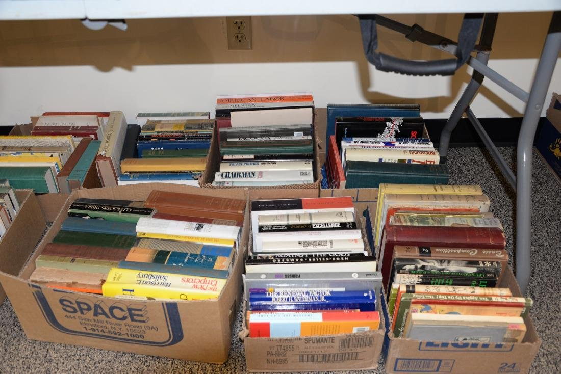 Table lot of books, on top and below table to include a - 5