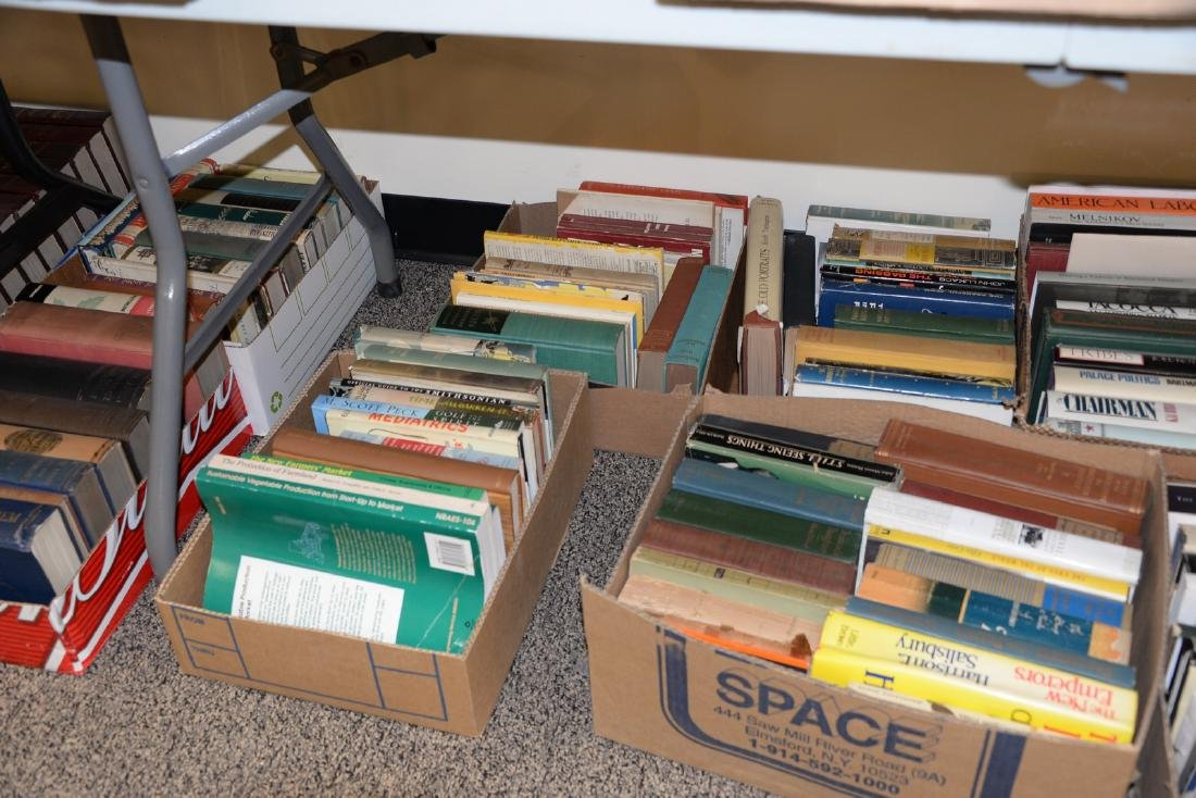 Table lot of books, on top and below table to include a - 6