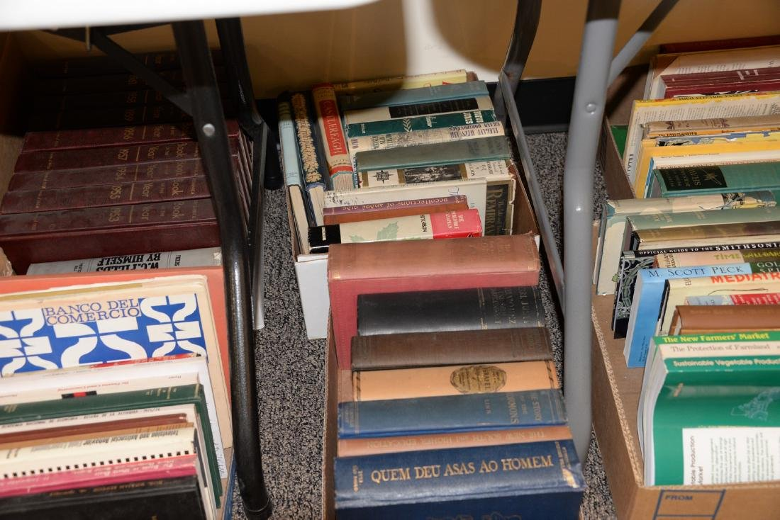 Table lot of books, on top and below table to include a - 7