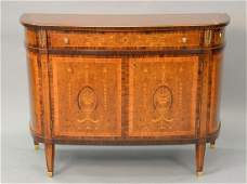 Contemporary inlaid Continental style cabinet ht 39