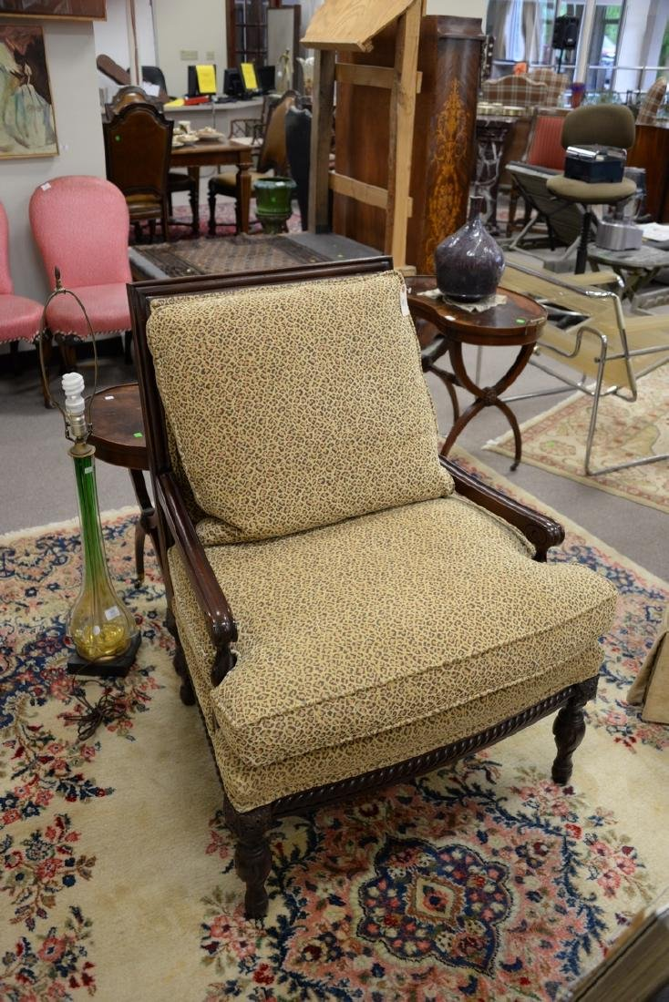 Pair of custom upholstered armchairs (excellent - 2