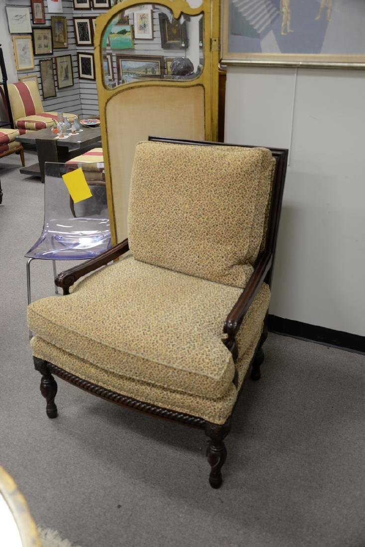 Pair of custom upholstered armchairs (excellent - 3
