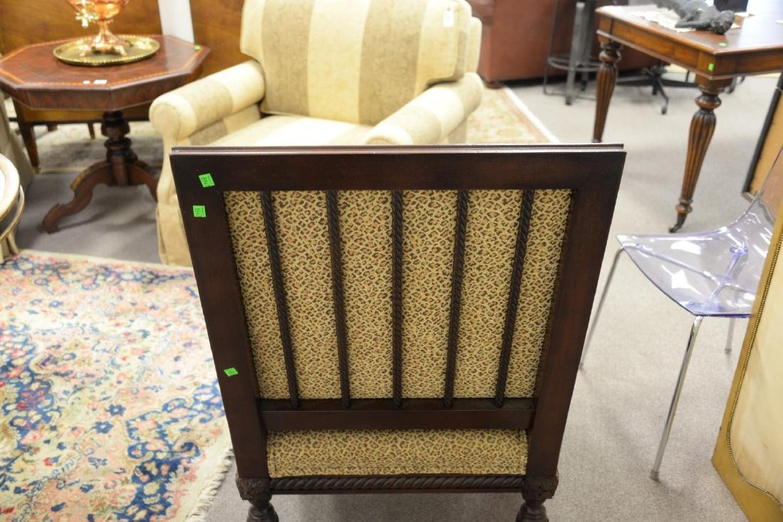 Pair of custom upholstered armchairs (excellent - 6