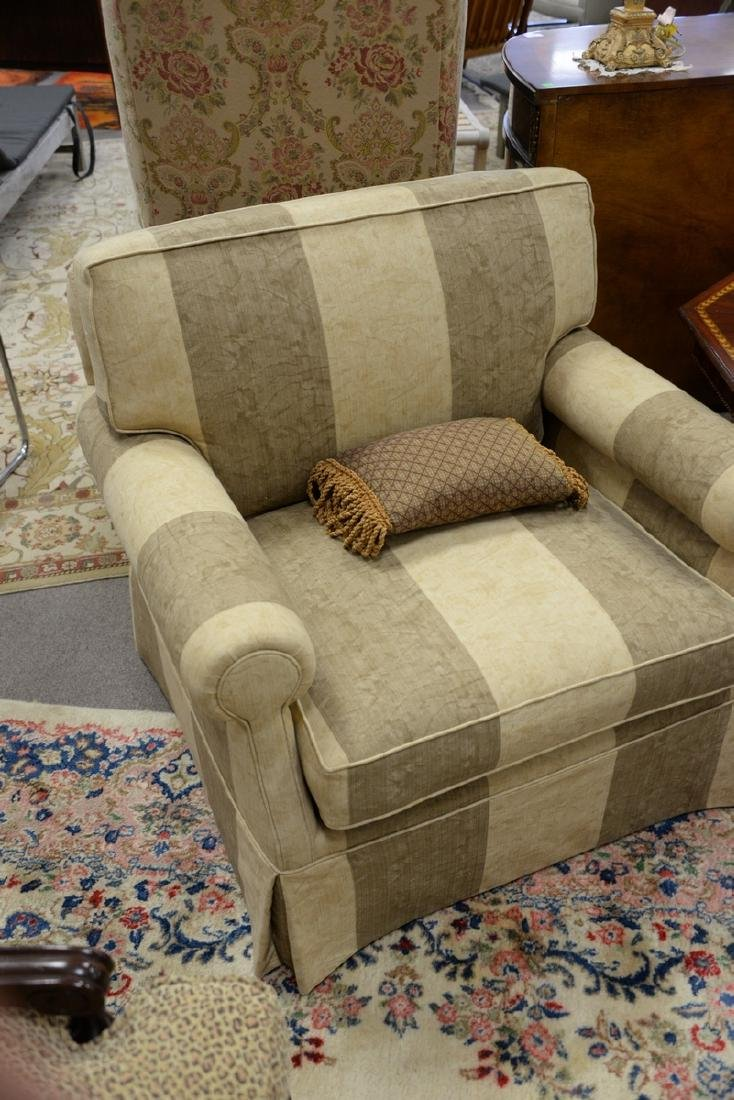 Pair of contemporary plantation style upholstered - 3