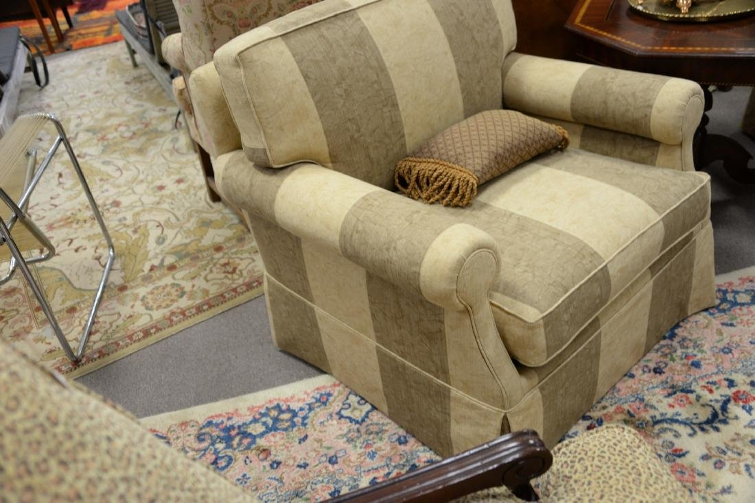 Pair of contemporary plantation style upholstered - 4