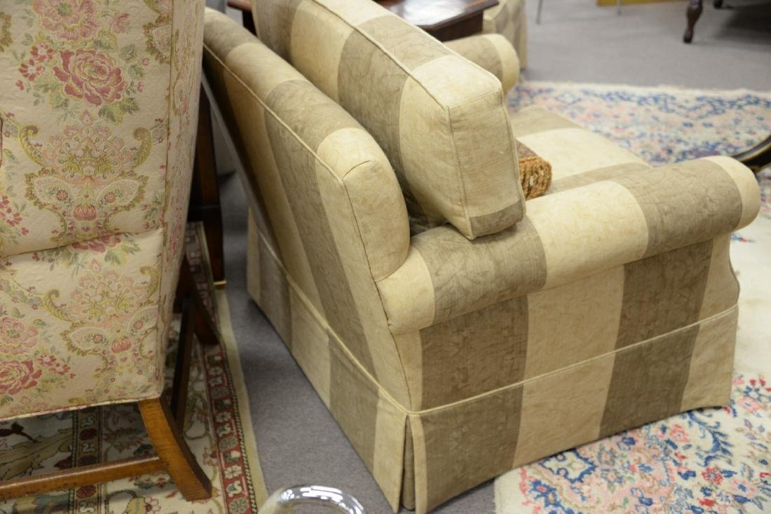 Pair of contemporary plantation style upholstered - 5