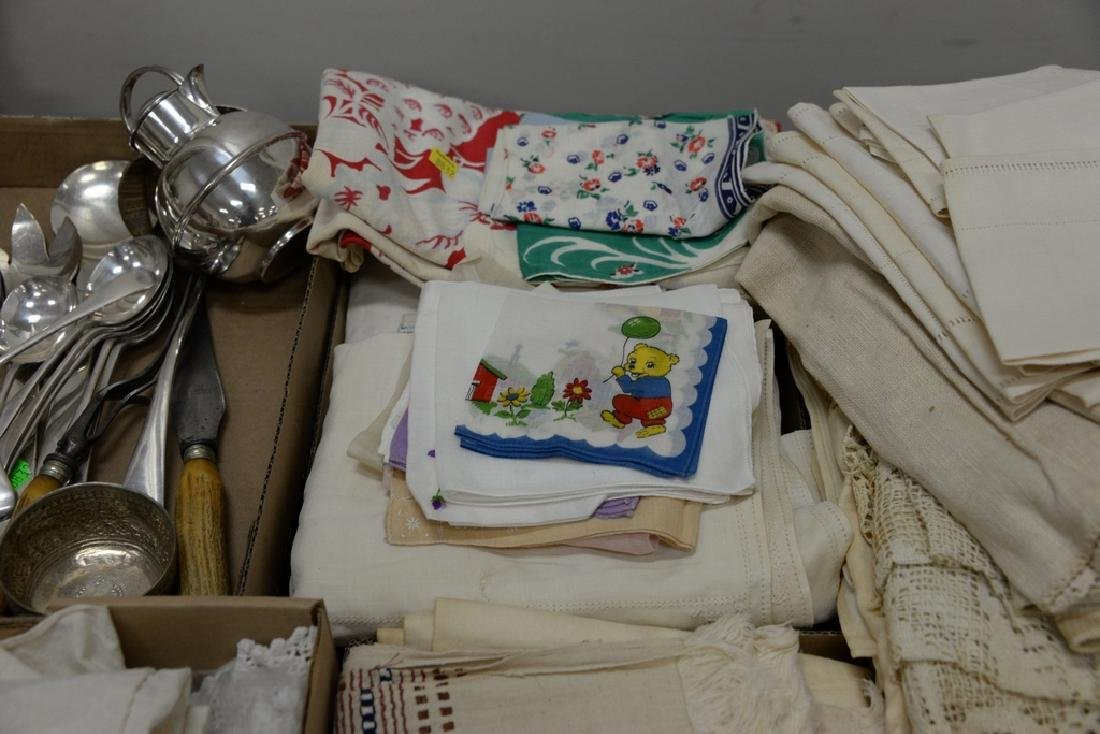 Table lot of linens, fourteen boxes total. - 3