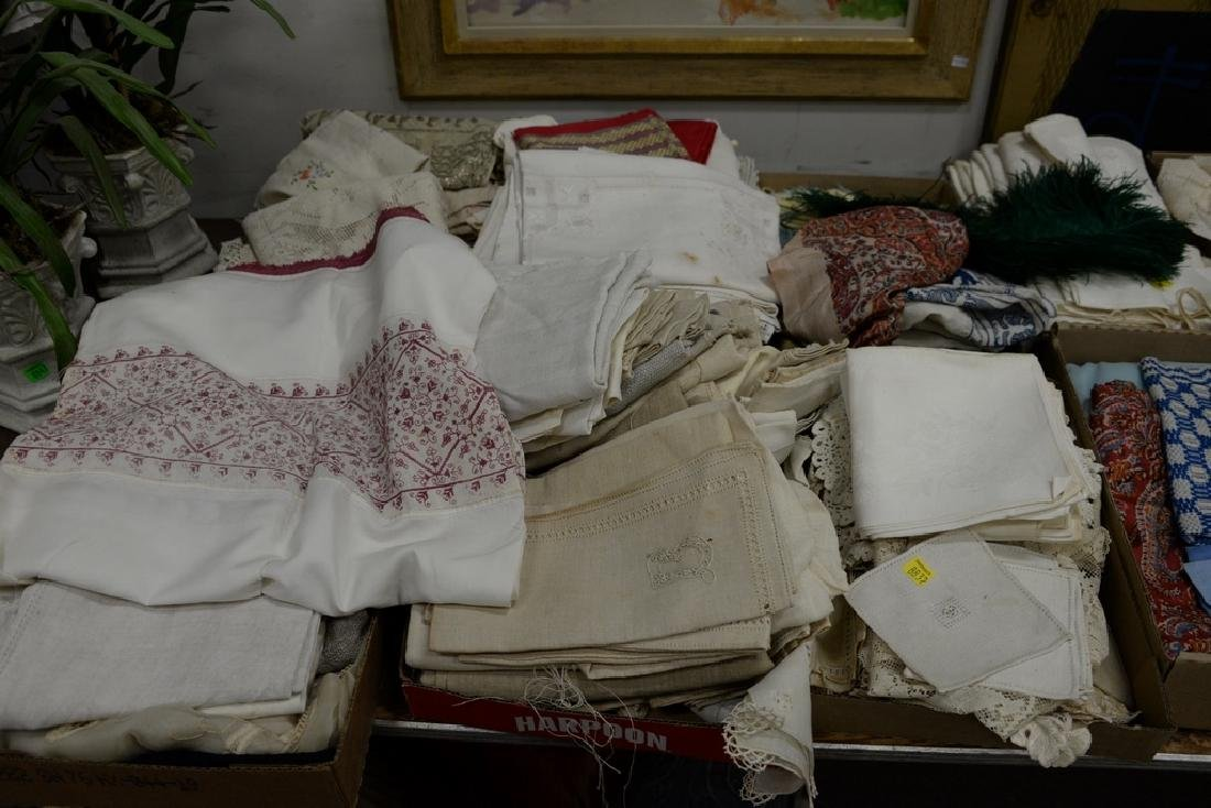 Table lot of linens, fourteen boxes total. - 6