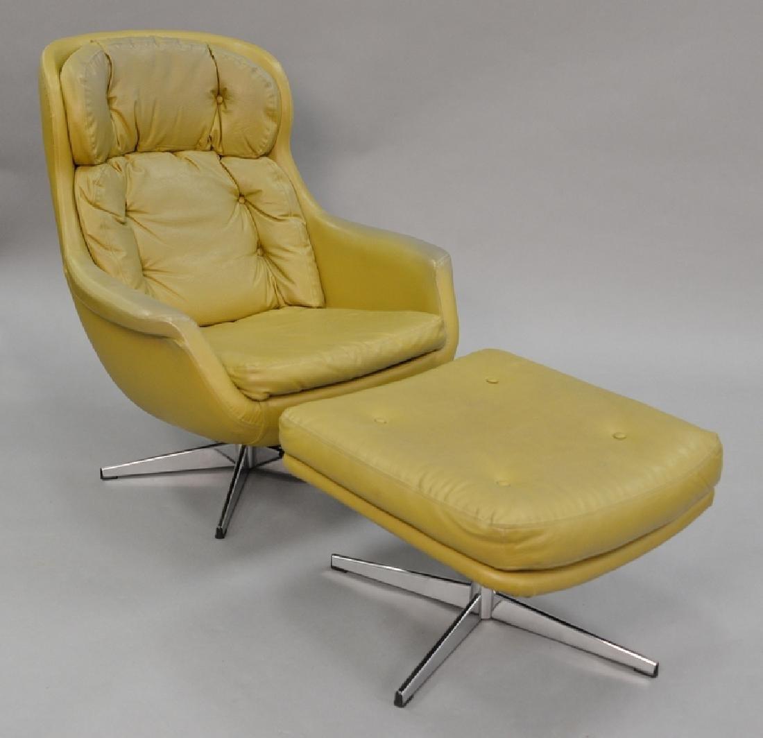Overman lounge chair and ottoman, Sloan.