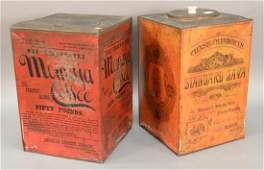 Two large advertising coffee tins including Chase and