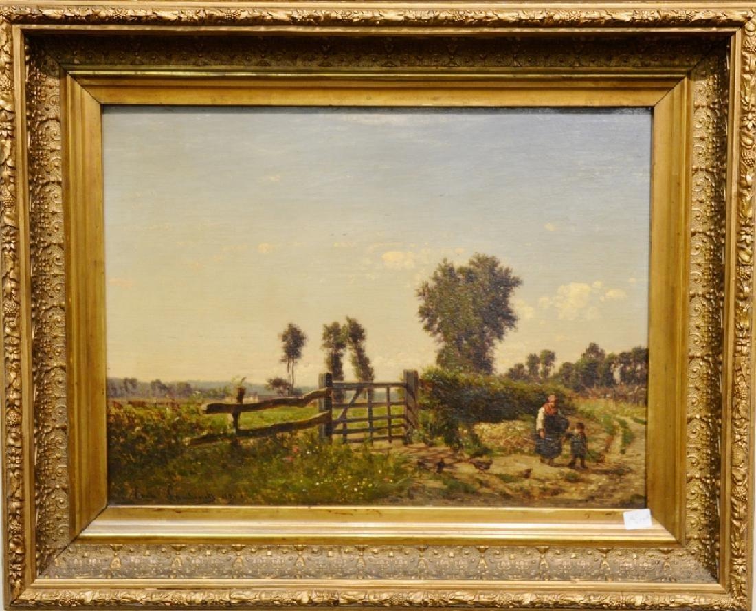 Emile Charles Lambinet (1815-1877) oil on panel,