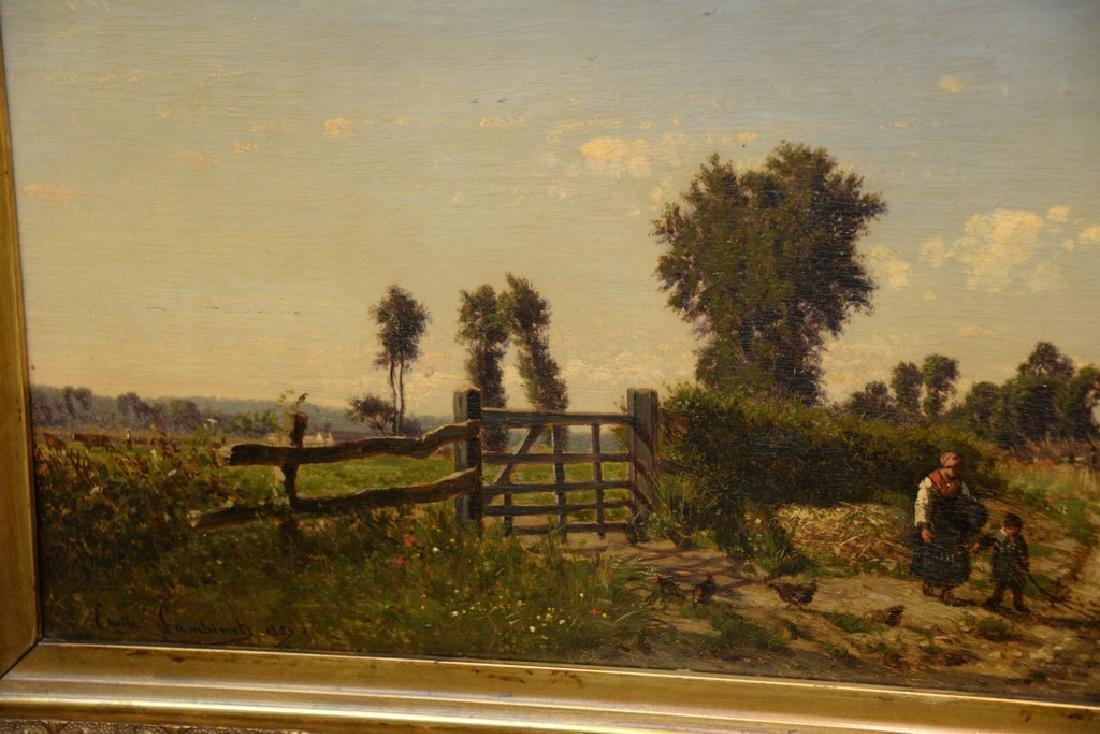 Emile Charles Lambinet (1815-1877) oil on panel, - 3