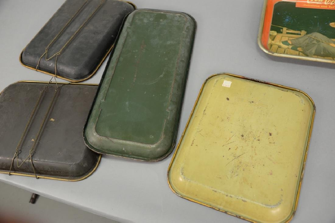 Group of five original Coca-Cola tin advertising trays. - 6