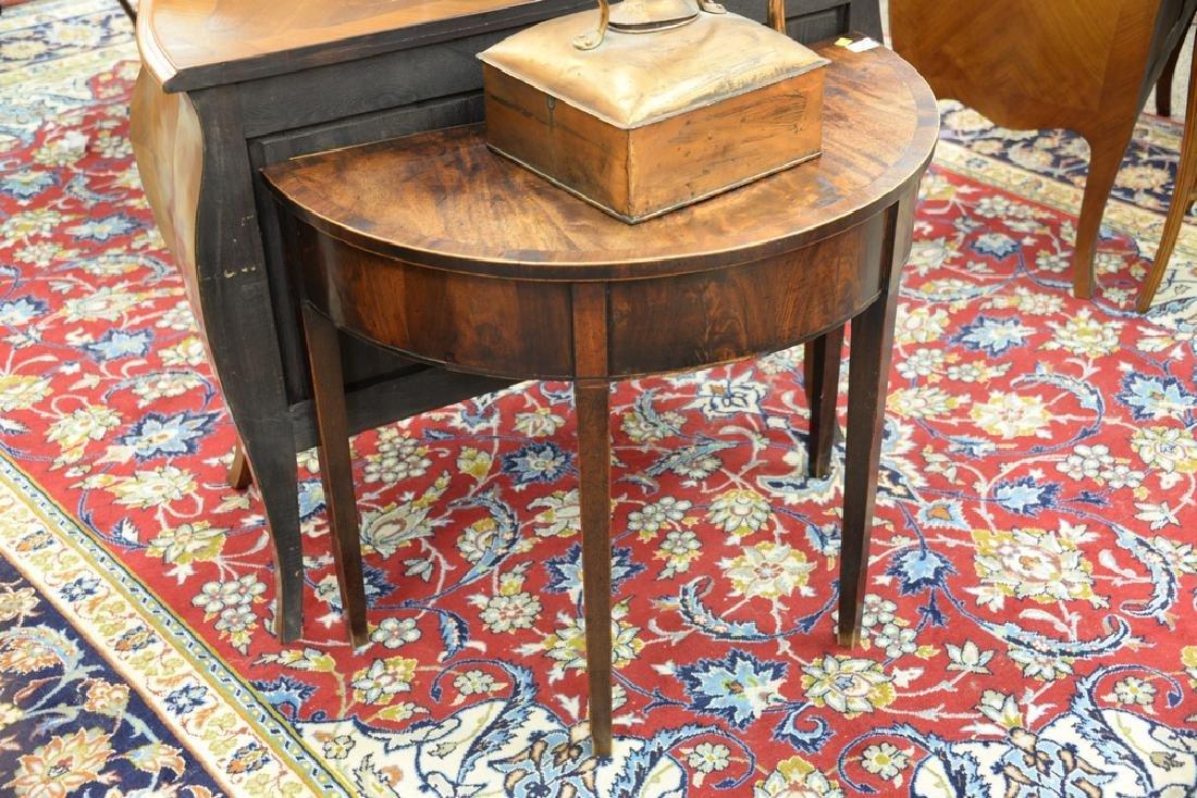 George III mahogany demilune table, circa 1800. ht. - 2