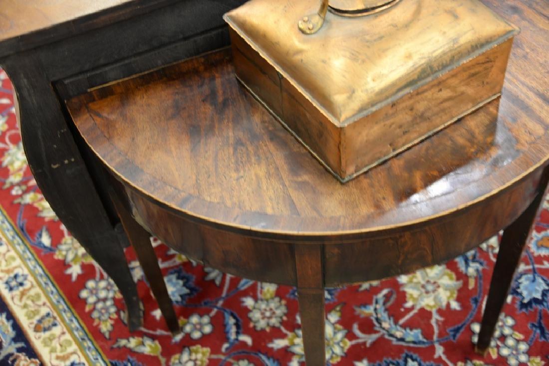George III mahogany demilune table, circa 1800. ht. - 3