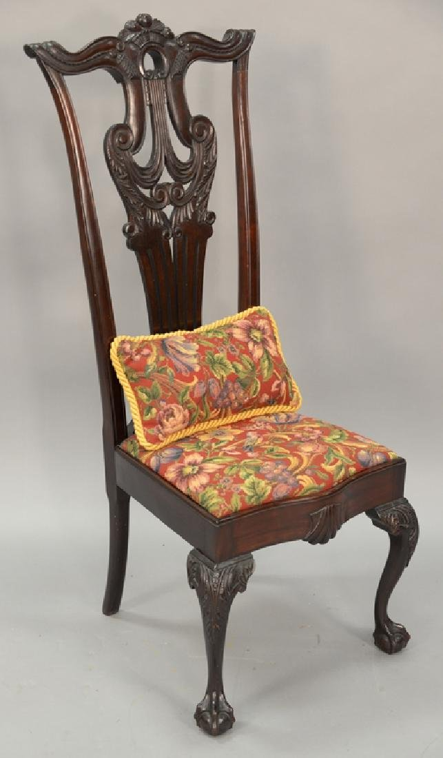 Chippendale style side chair.