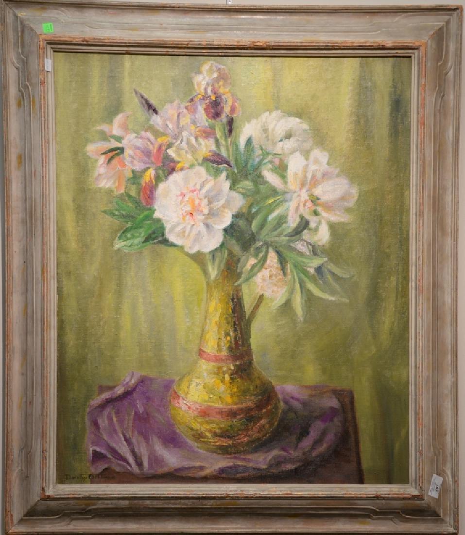 "Dorothy Ochtman (1891-1971) oil on canvas, ""Peonies"