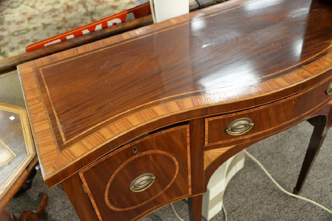 George III style custom mahogany sideboard with banded - 3