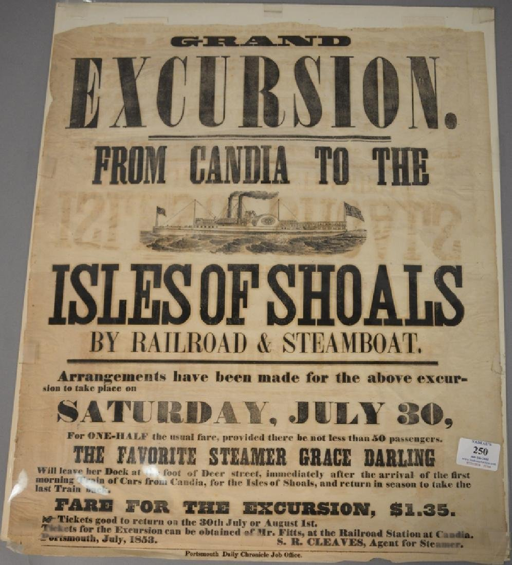 Advertising poster, 19th century, Grand Excursion from