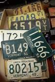 Two box lots of twenty-four vintage Vermont license