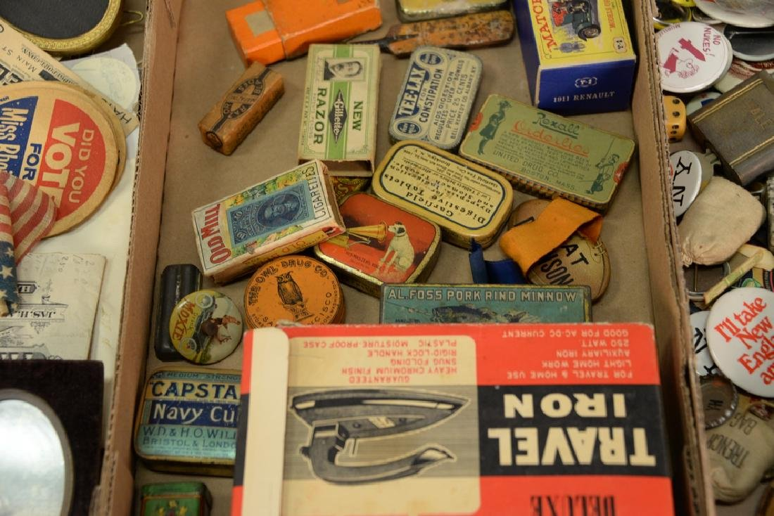 Three tray lots consisting of advertising tins, - 4