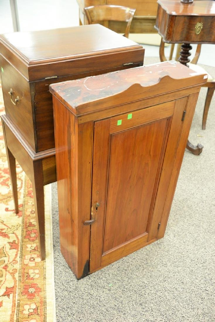 Primitive wall cabinet, early 19th century. ht. 38in., - 2